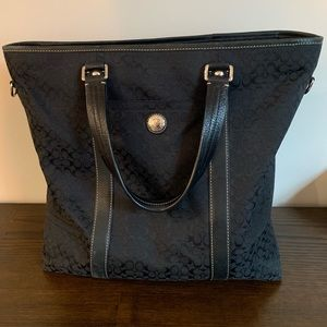Coach zippered tote bag